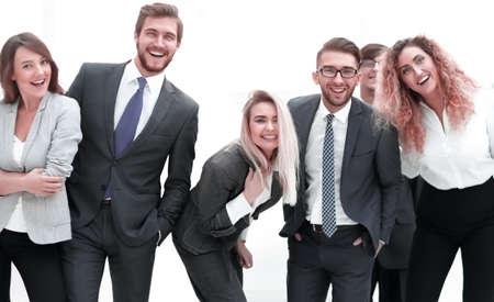 Photo pour closeup.friendly business team. in officce - image libre de droit