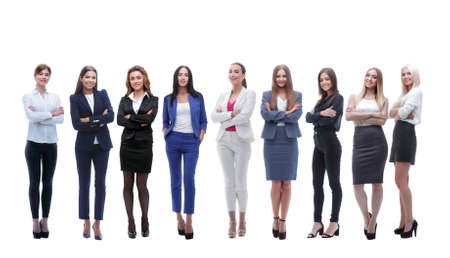 Photo pour panoramic photo of a big business team standing together - image libre de droit