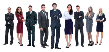 Photo pour in full growth.professional business team isolated on white - image libre de droit