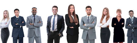 Photo pour in full growth.professional business team isolated on white background. - image libre de droit