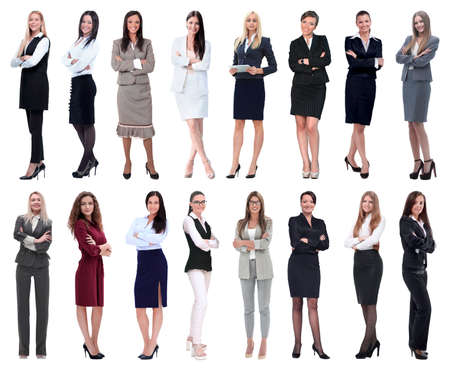 Photo for in full growth.collage of a group of successful young business women. - Royalty Free Image