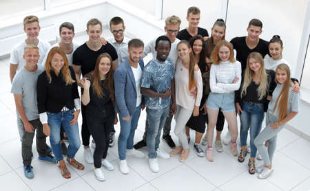 Photo pour group of diverse young people looking at the camera - image libre de droit