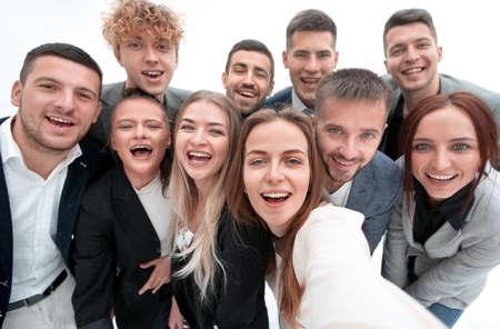 Foto de group of young business people looking at the camera - Imagen libre de derechos