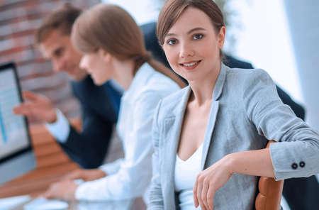 Foto de portrait of successful business women in the workplace - Imagen libre de derechos