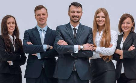 Photo pour portrait of a professional office staff - image libre de droit
