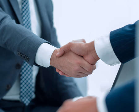 Foto de Businessman making handshake - success, dealing, merger and acquisition concepts - Imagen libre de derechos