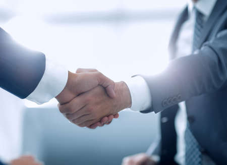 Photo for Close up of business handshake in the office - Royalty Free Image