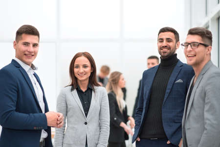 Photo for group of diverse employees standing in the office - Royalty Free Image