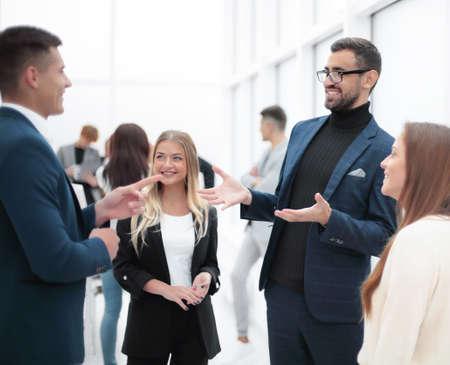 Photo pour business man explaining something to his colleague. - image libre de droit
