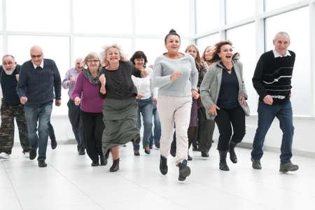 Photo pour Running people concept of a winner - image libre de droit