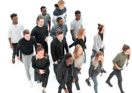 Photo for group of diverse young people walking together - Royalty Free Image
