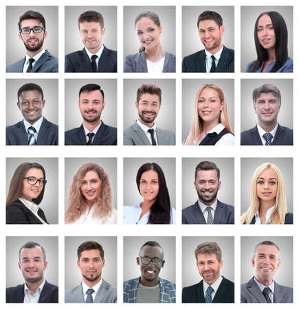 Photo pour portraits of successful employees isolated on a white - image libre de droit
