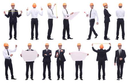 Photo pour collage of various photos of a successful modern man - image libre de droit