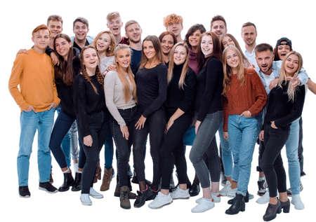 Photo pour team of happy young people .success concept - image libre de droit