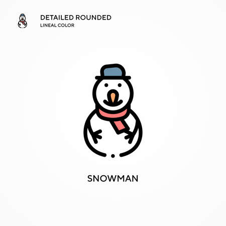 Snowman vector icon. Modern vector illustration concepts. Easy to edit and customize.