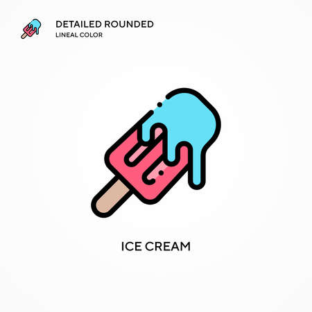 Ice cream vector icon. Modern vector illustration concepts. Easy to edit and customize.