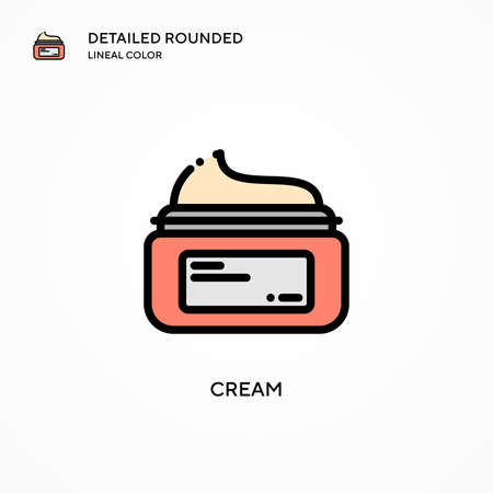 Cream vector icon. Modern vector illustration concepts. Easy to edit and customize.