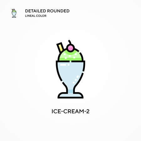 Ice-cream-2 vector icon. Modern vector illustration concepts. Easy to edit and customize.