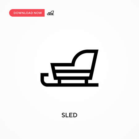 Sled Simple vector icon. Modern, simple flat vector illustration for web site or mobile app