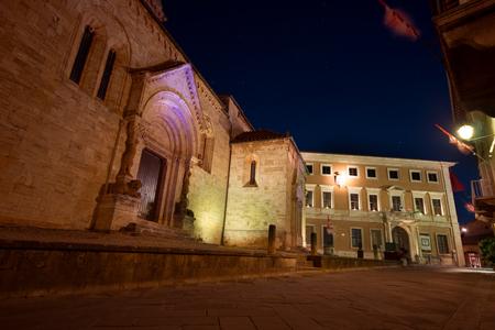 The facade of the medieval church La
