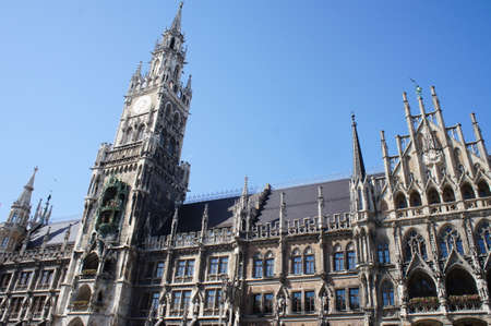 The New Town Hall is a building at Marienplatz in Munich, Bavaria, Germany,