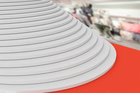 Staircase with red carpet, 3d-illustration