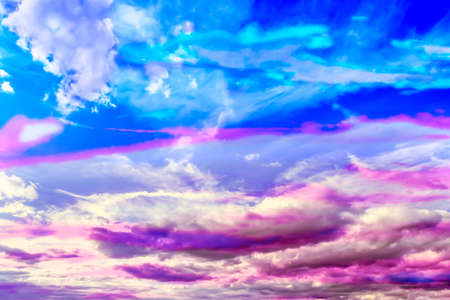 Sunrise at cloudy sky