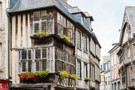 Typical House timbered in Rennes, French