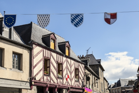 Typical House timbered in Combourg, French