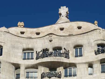 BARCELONA, SPAIN - November 19, 2015: Casa Mila Pedrera  a modernist building in Barcelona designed by Antonio Gaudi