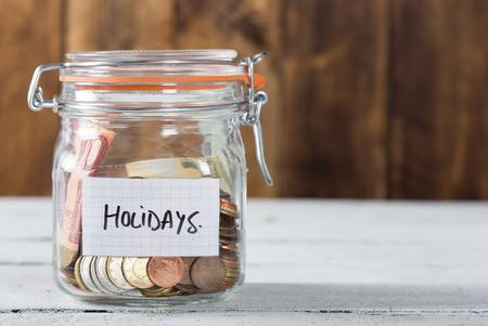 Piggy bank money for the holidays