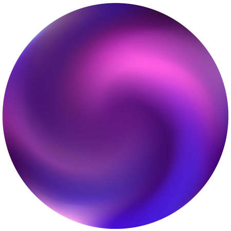 Illustration pour Round smooth blurred background. Holographic backdrop in style of 90th, 80th. Trendy soft color theme. Violet modern abstract cover for your graphic design or creative projects. - image libre de droit