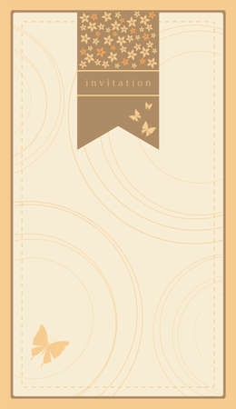 Illustration for Invitation template - Royalty Free Image