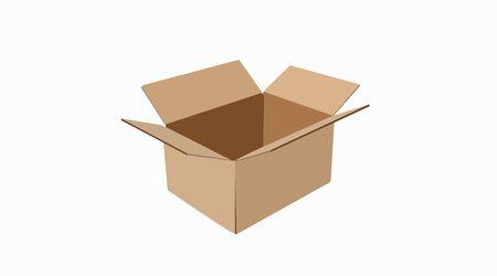 Illustration pour Carton delivery packaging, Box. Vector Isolated Illustration - image libre de droit
