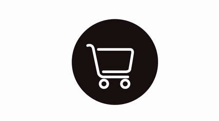 Ilustración de Black and White Shopping Cart Icon. Vector Isolated Illustration of a Shopping Cart - Imagen libre de derechos