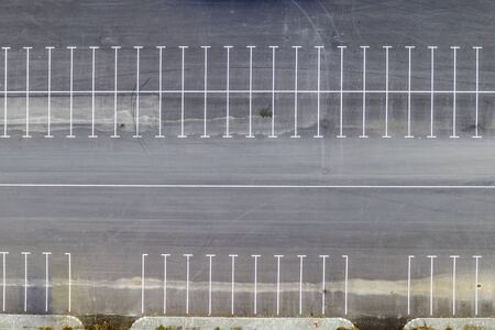 Photo for Aerial top view of empty parking lots. Drone photography. - Royalty Free Image