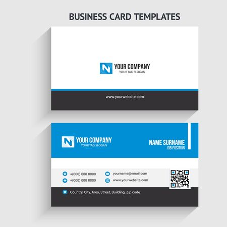 Illustration for Creative and Modern Business Card Template. Stationery Design, Flat Design, Print Template, Vector illustration - Royalty Free Image