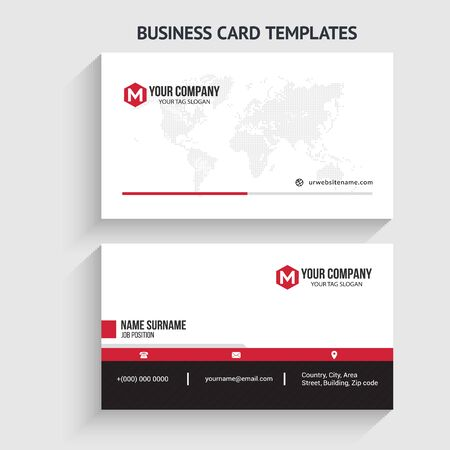 Illustration for Modern Business Card Template. Stationery Design, Flat Design, Print Template, Vector illustration - Royalty Free Image