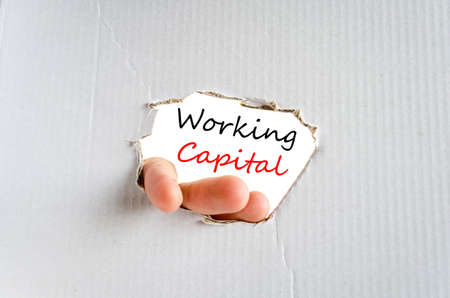 Working capital text concept isolated over white background