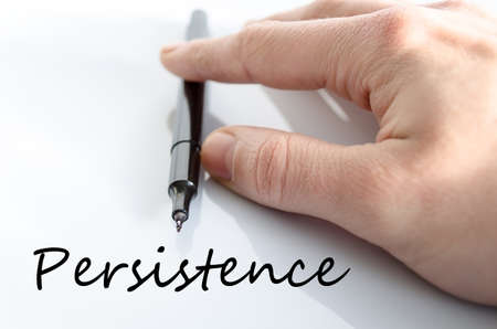 Persistence text concept isolated over white background