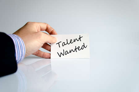 Talent wanted text concept isolated over white background