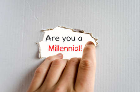 Are you a millennial text concept isolated over white background