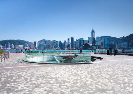 View from Tsim Sha Tsui Promenade at daytime, Hong Kong