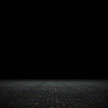 Foto de Empty spot lit dark background, 3d render - Imagen libre de derechos