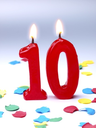 Birthday candle showing   10