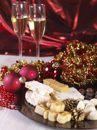 Spanish Christmas sweets.  Turron, torrone, nougat, mazapan, marzipan, filled almonds...