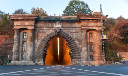The Adam Clark Tunnel through the Castle Hill in Budapest, Hungary.