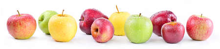 Photo for Apple varieties: annurca, stark delicious, fuji, granny smith, golden delicious, royal gala. - Royalty Free Image