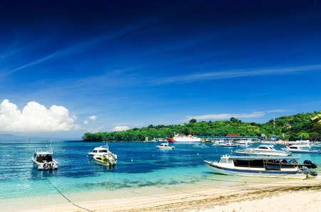 Tropical beach. Padangbai, Bali, Indonesia.