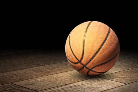 Basketball on the floor